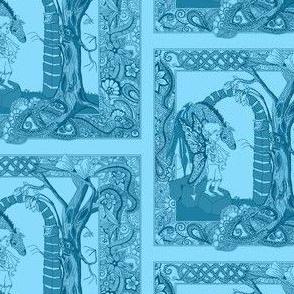 Boy and Dragon-blue