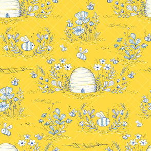 Bee Life Toile in Canary - © Lucinda Wei
