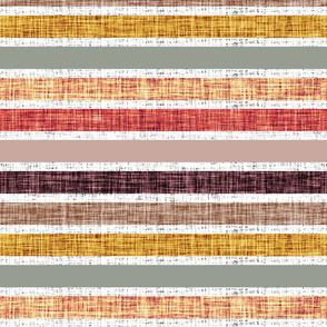 stripes: white linen + spice no. 2, coral gold, dusty rose, medallion, laurel x, sunset, 26-13 x