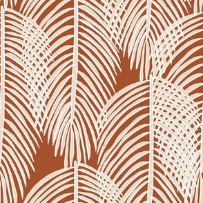 Coconut fronds on coco brown