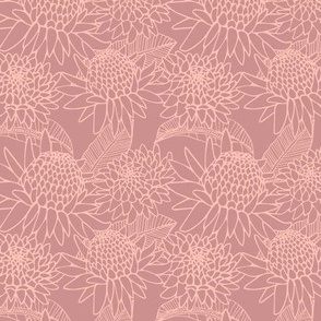 Smaller scale- torch ginger in mauve