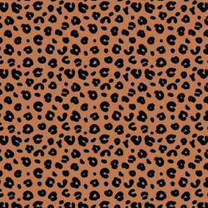 Tiny smooth cheetah boho indian summer jungle animal print nursery rust copper