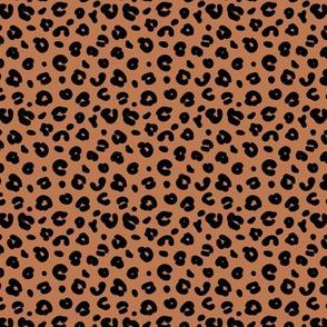 Tiny smooth cheetah boho indian summer jungle animal print nursery rust copper
