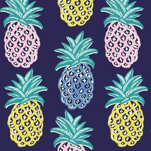 pineapple bright neon
