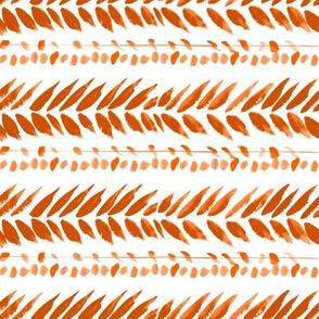 orange and white small leaf stripe