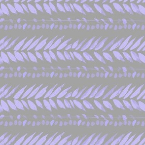 light gray and lavender lilac  small leaf stripe