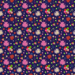 Summer and spring floral pattern by Kaorina