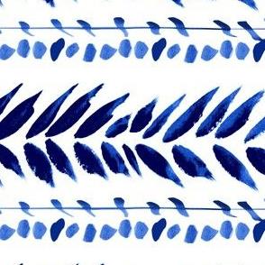 blue and white large leaf stripe copy