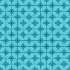 1950s starburst // Mid Century Atomic teal turquoise