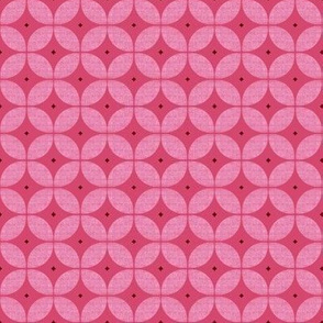 1950s starburst // Mid Century Atomic red and pink