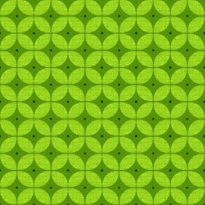 1950s starburst // Mid Century Atomic green