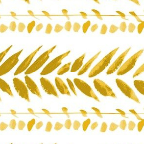 gold and white large leaf stripe