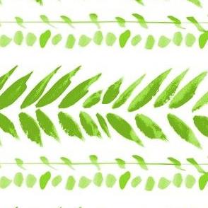 green and white large leaf stripe
