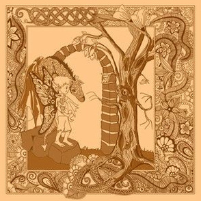 Boy and Dragon-browns