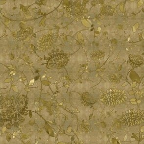 Gold on Gold Flower Chintz