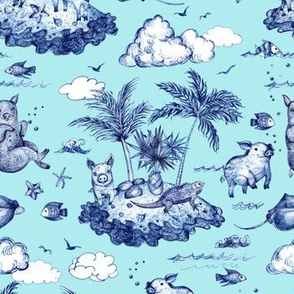 Swimming Pigs Aqua