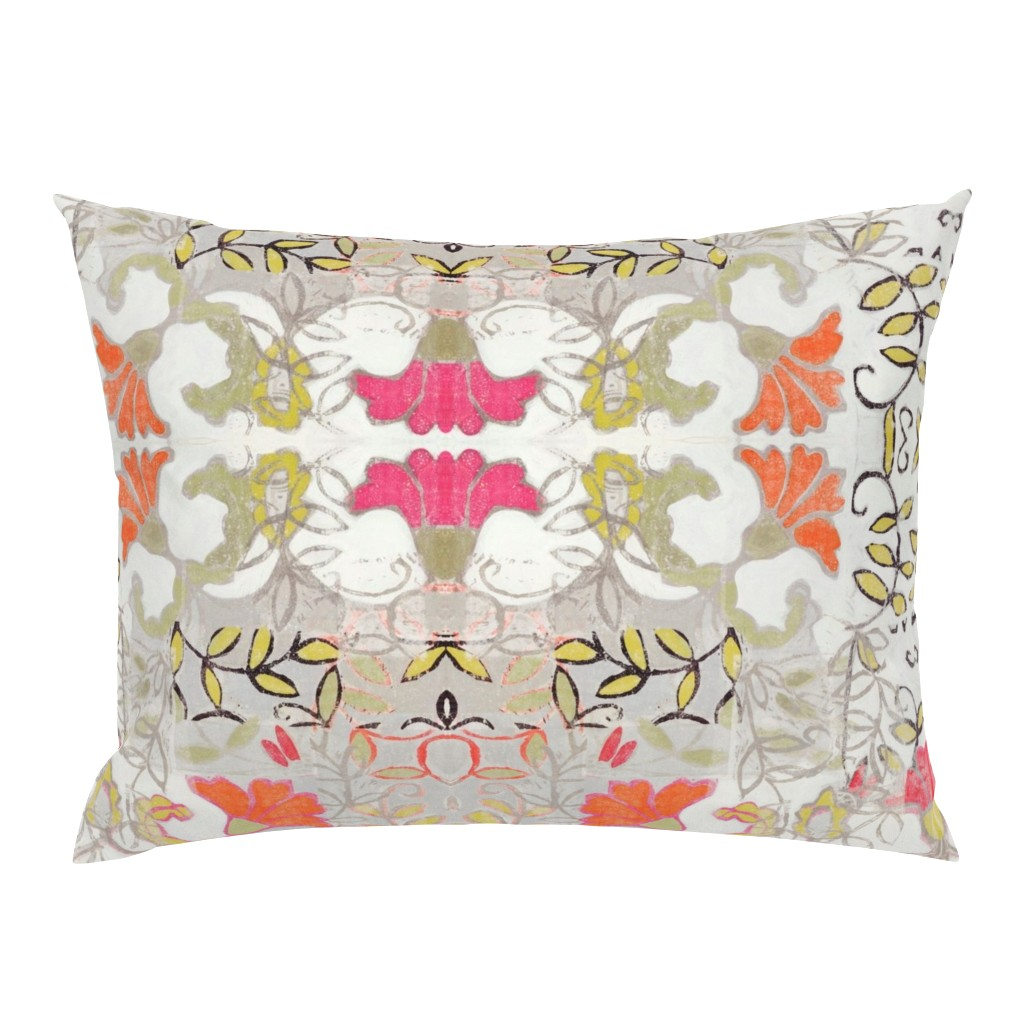 Campine Pillow Sham featuring Orange and Berry Bouquet by maria_pezzano