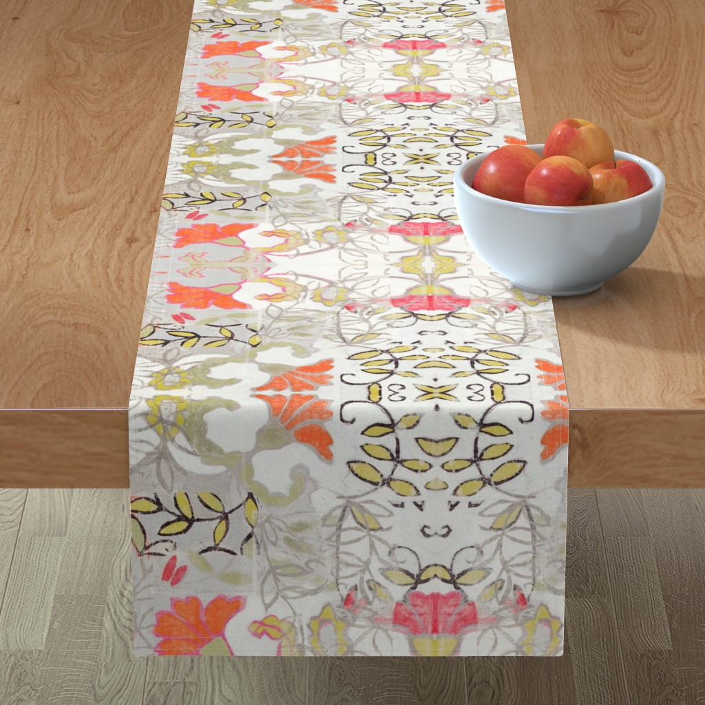 Minorca Table Runner featuring Orange and Berry Bouquet by maria_pezzano