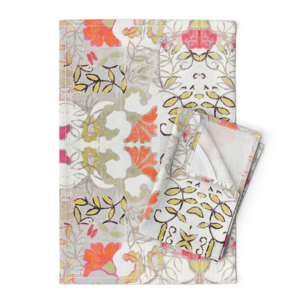 Orpington Tea Towels featuring Orange and Berry Bouquet by maria_pezzano