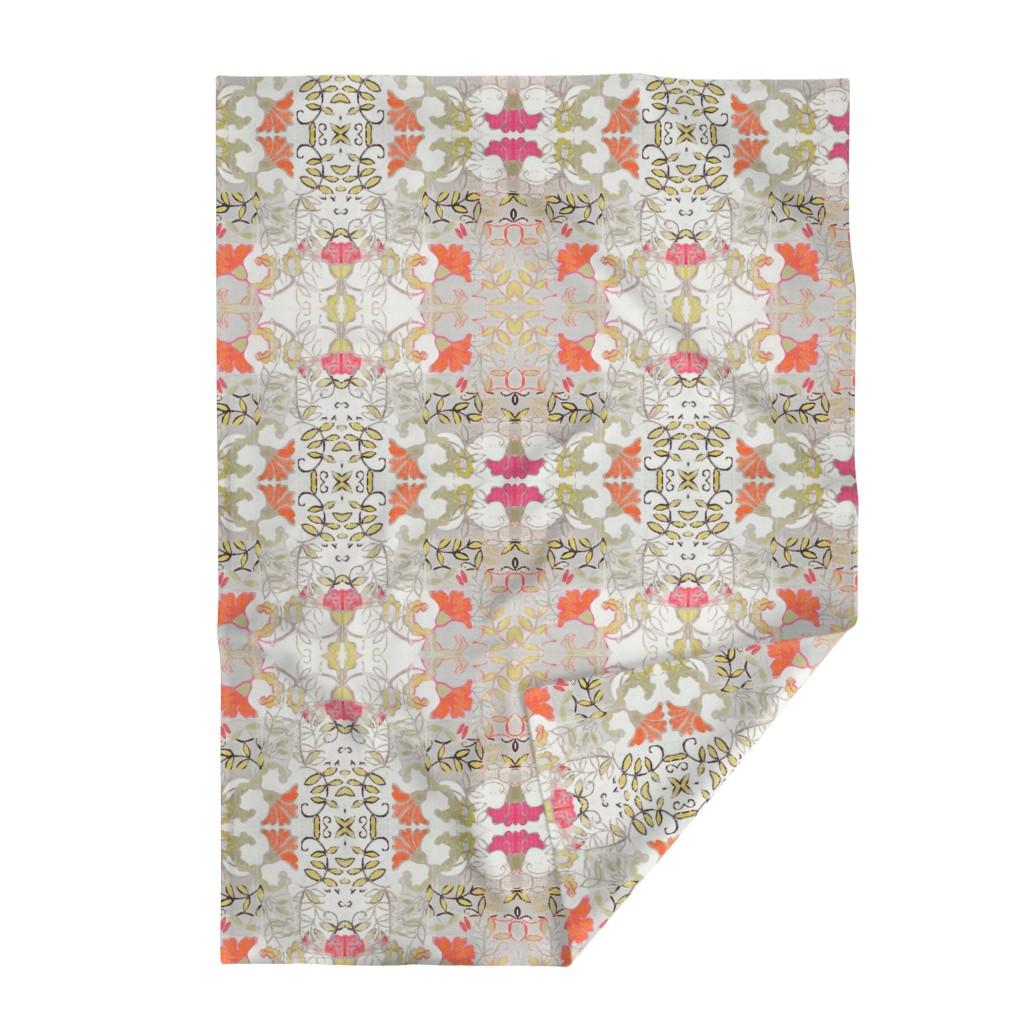 Lakenvelder Throw Blanket featuring Orange and Berry Bouquet by maria_pezzano