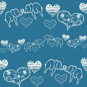 Elephant Sweethearts - Blue