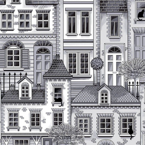 Town house toile grey