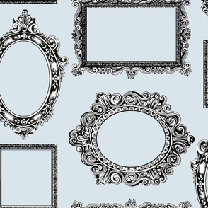 Picture frames large grey