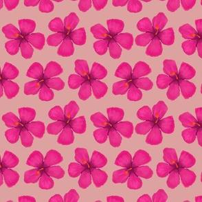 1.5 inch flowers- Hibiscus Bright Magenta