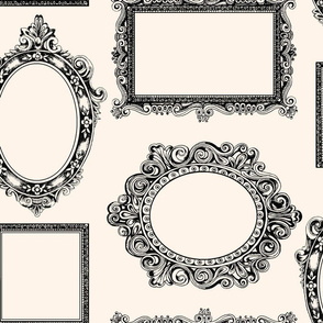 Picture frames large cream
