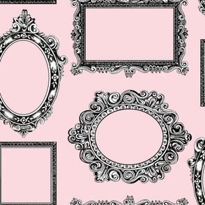 Picture frames large pink