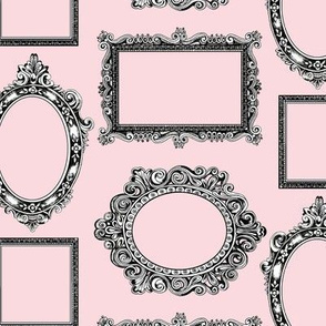 Frame labels small pink