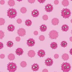 Virenmuster freche Viren rosa