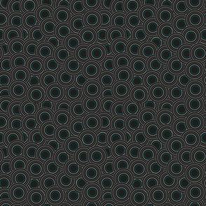 black circles with cyan small
