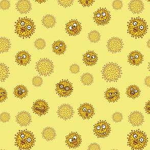 Virenmuster freche Viren gelb
