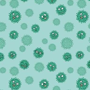 Virenmuster freche Viren grün