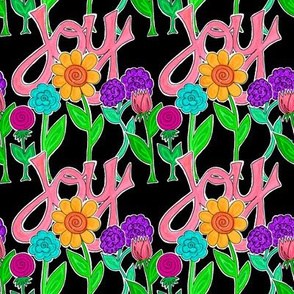 JOY Flowers (black)