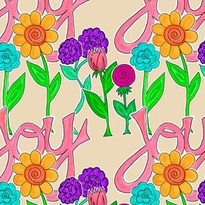 JOY Flowers (cream)