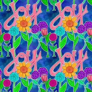 JOY Flowers (blue)