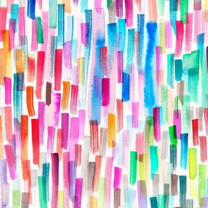 Colorful brushstrokes Candy multicolored