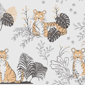 Tiger toile - larger scale