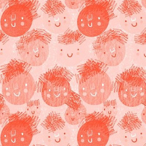 scribbly watermelon pink smiles