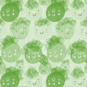 Scribbly Apple Green Smiles
