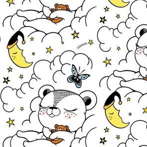 Sleepy Bear in the Clouds