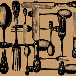 Cutlery Antique Black