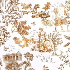 Greek Mythology Toile brown ombre