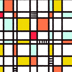 Bold and Blocky Stained Glass