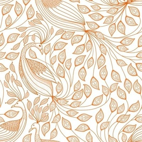 toile peacock 2020 orange