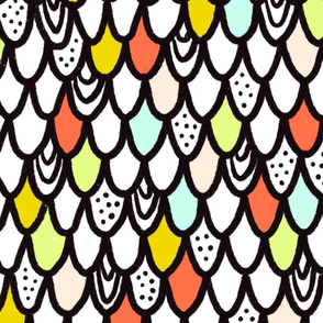 Bold and Blocky Fish Scales
