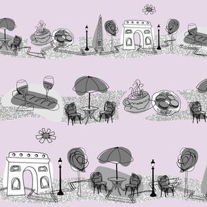 Avenue des Champs-Elysees V Gray on Lavender