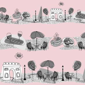 Avenue des Champs-Elysees V Gray on Pink